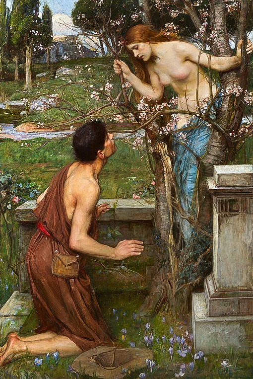 1849 ile 1917 yılları arasında yaşayan İngiliz Ressam John William Waterhouse'un tablosunda badem ağacına dönüşen Phyllis'in önünde diz çökmüş Demophon görünüyor
