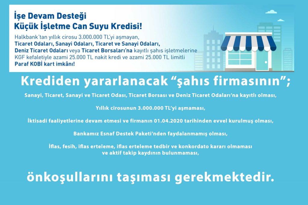 Halkbank'tan DTO Şahıs İşletmesi Üyeler için Can Suyu Kredisi- Ege İdea Dergi