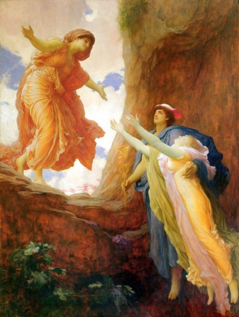"""İngiliz Ressam Frederic Leighton'un 1891 yılında yaptığı """"Persephone'nin Dönüşü"""" adlı tablosu. / Ege İdea Dergi"""